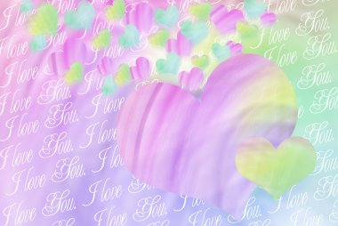 Colorful hearts background for valentines