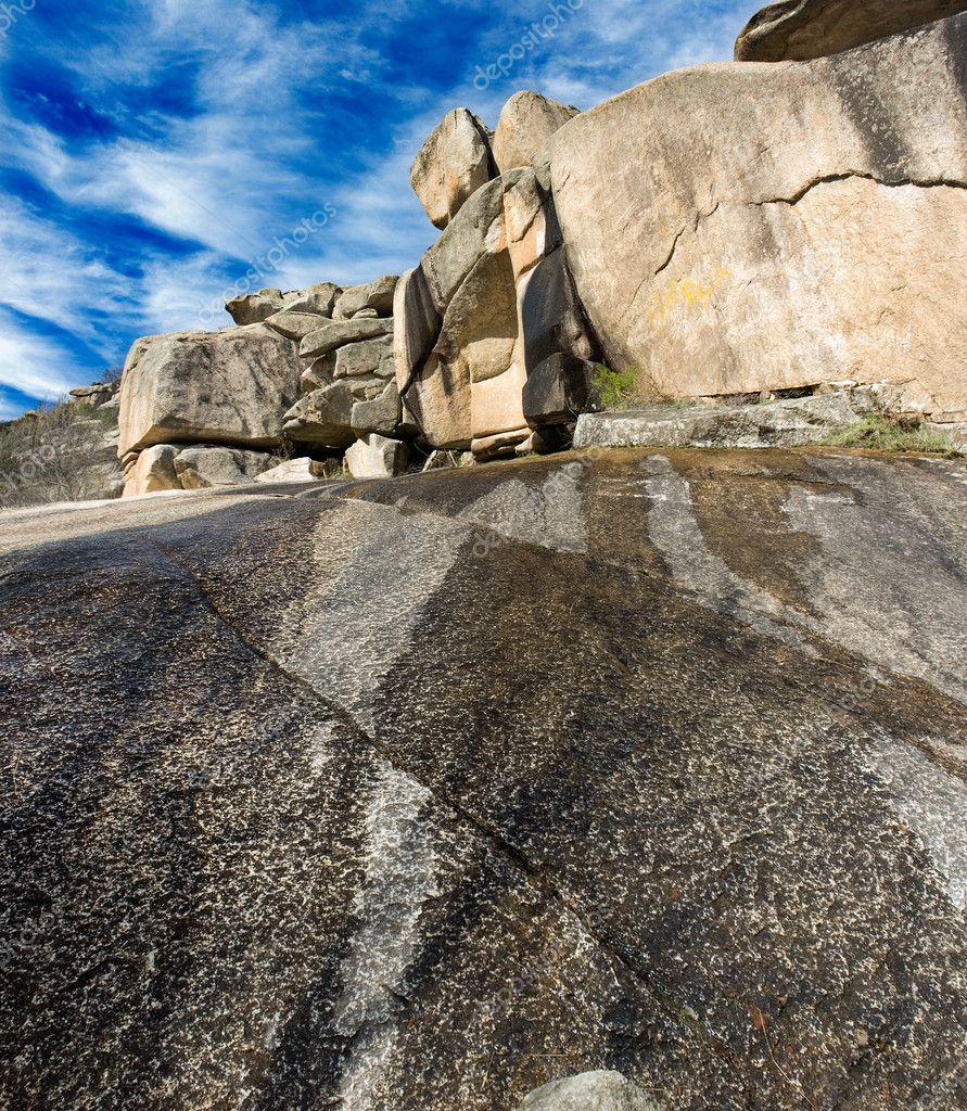 Rockscape granite mountain landscape cloud sky