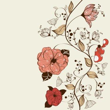 Vector floral background design clip art vector