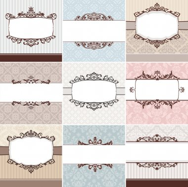 Set of vintage floral frame