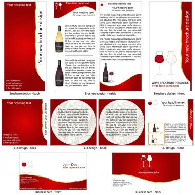 Wine stationary template