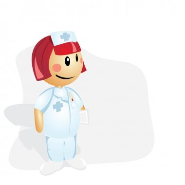 Nurse- cartoon illustration