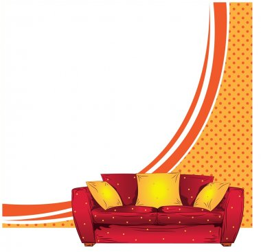 Sofa vector background