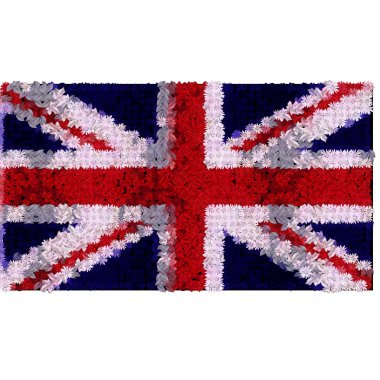 United kingdom flag in floral design