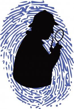 Detective on thumbprint