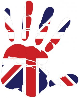 Hand print of Great britain