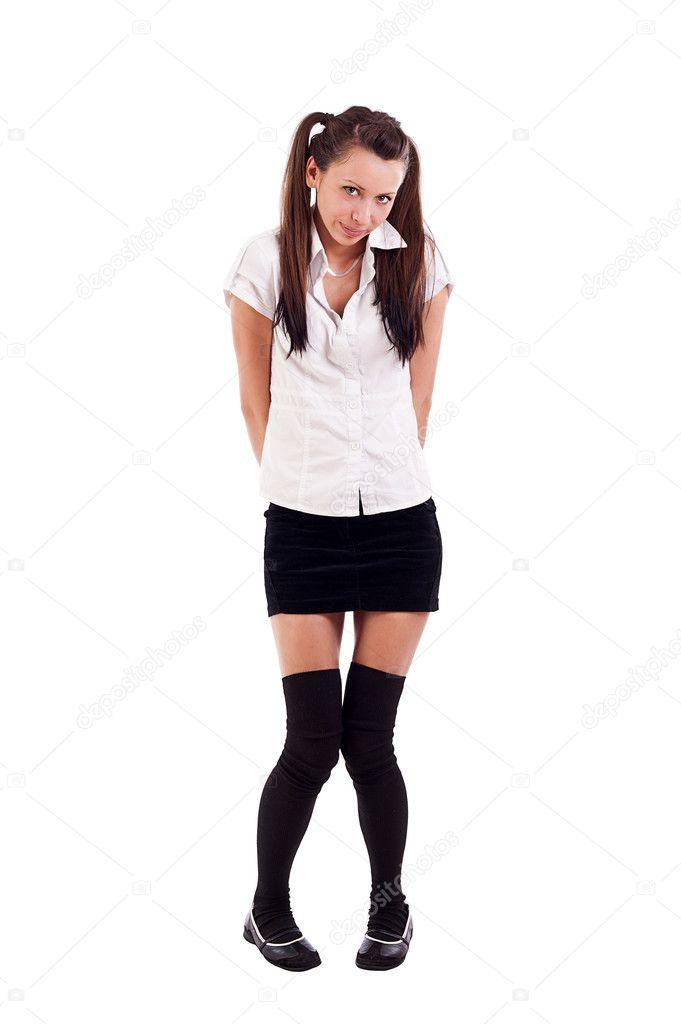 Фото в короткие юбки на корточках #15