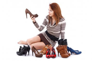 Woman and shoes