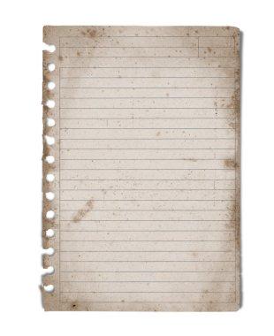 Vintage blank note paper