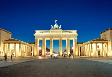 The illiminated Brandenburg Gate