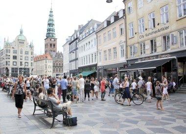 Stroget shopping street copenhagen denmark