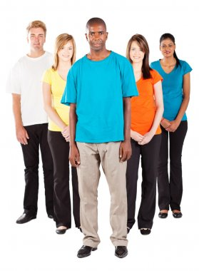 Group of young diverse