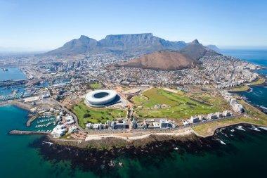"""Картина, постер, плакат, фотообои """"Общий вид с воздуха города Кейптаун"""", артикул 10469980"""