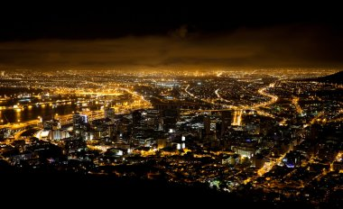 Night scene of Cape Town