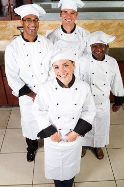 Professional chefs in kitchen