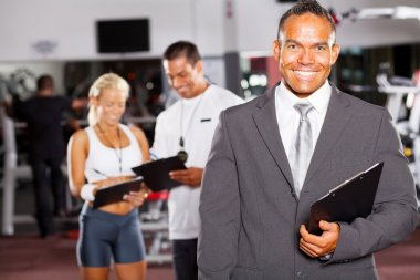 Gym manager and staff