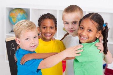 Group of happy preschool kids