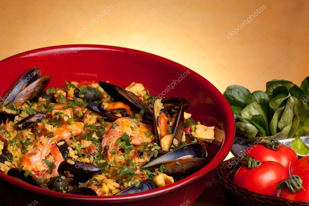Ricette spagnole paella foto stock shopartgallery for Ricette spagnole