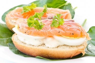 Sandwich with red fish