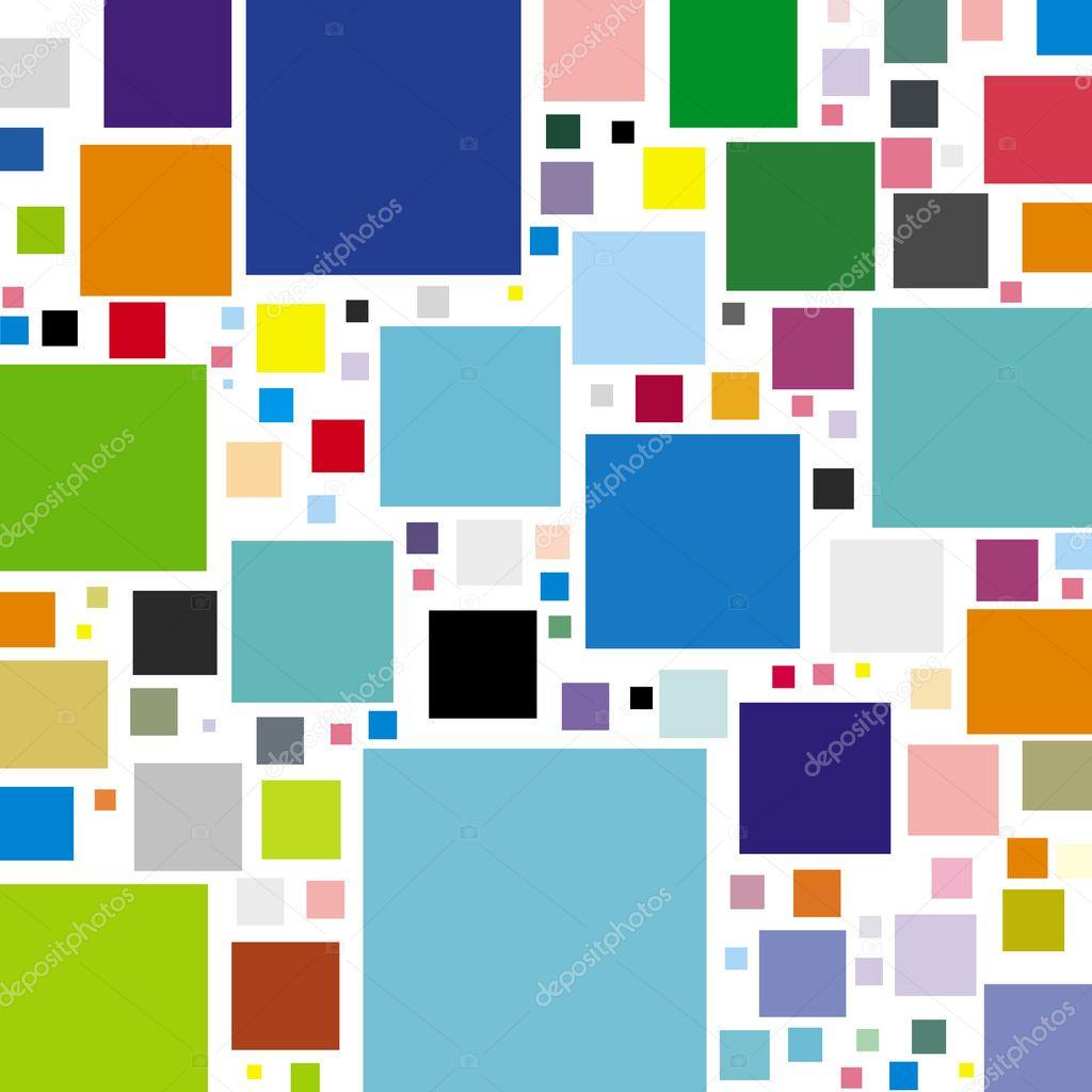 Pop art poster - a geometric pattern in pastel colors