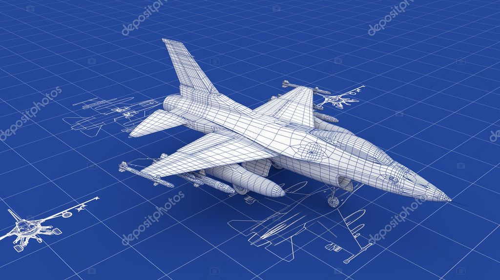 jet fighter aircraft blueprint stock photo nmcandre 10505841