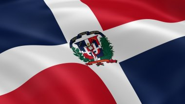 Dominican Republic flag in the wind