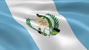 Guatemalan flag in the wind
