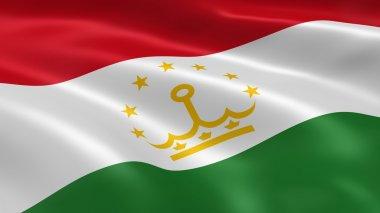 Tajikistani flag in the wind