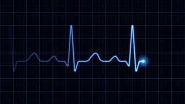 Electrocardiogram on a blue screen stock vector