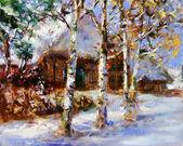 Fotografie Winter-Landschaftsmalerei