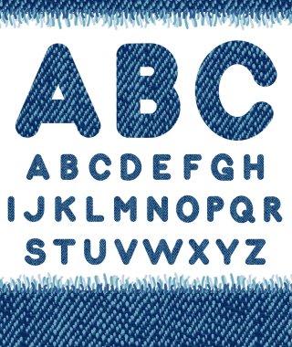 Jeans alphabet.