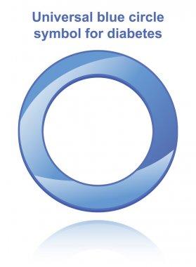 Universal blue circle symbol for diabetes
