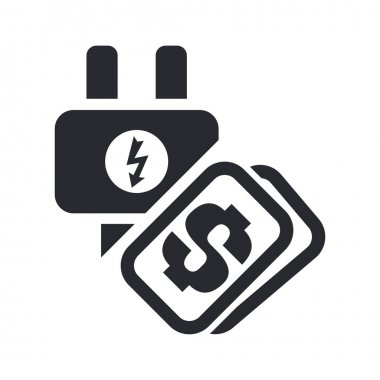 Vector illustration of energy cost concept