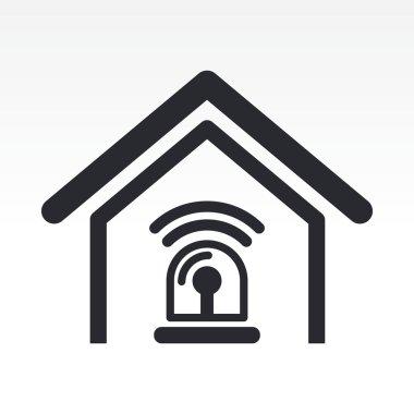 Vector illustration of home alarm icon