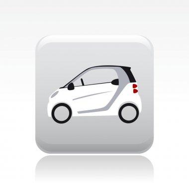 Vector illustration of single small car icon