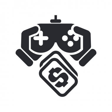 Vector illustration of isolated videogame price icon