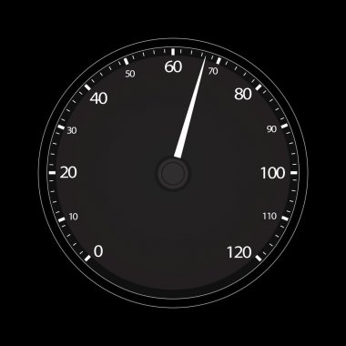 Vector illustration of single tachometer icon