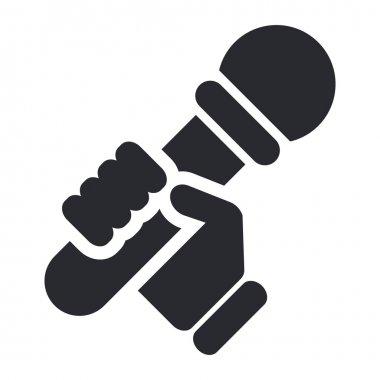 Vector illustration of single karaoke icon