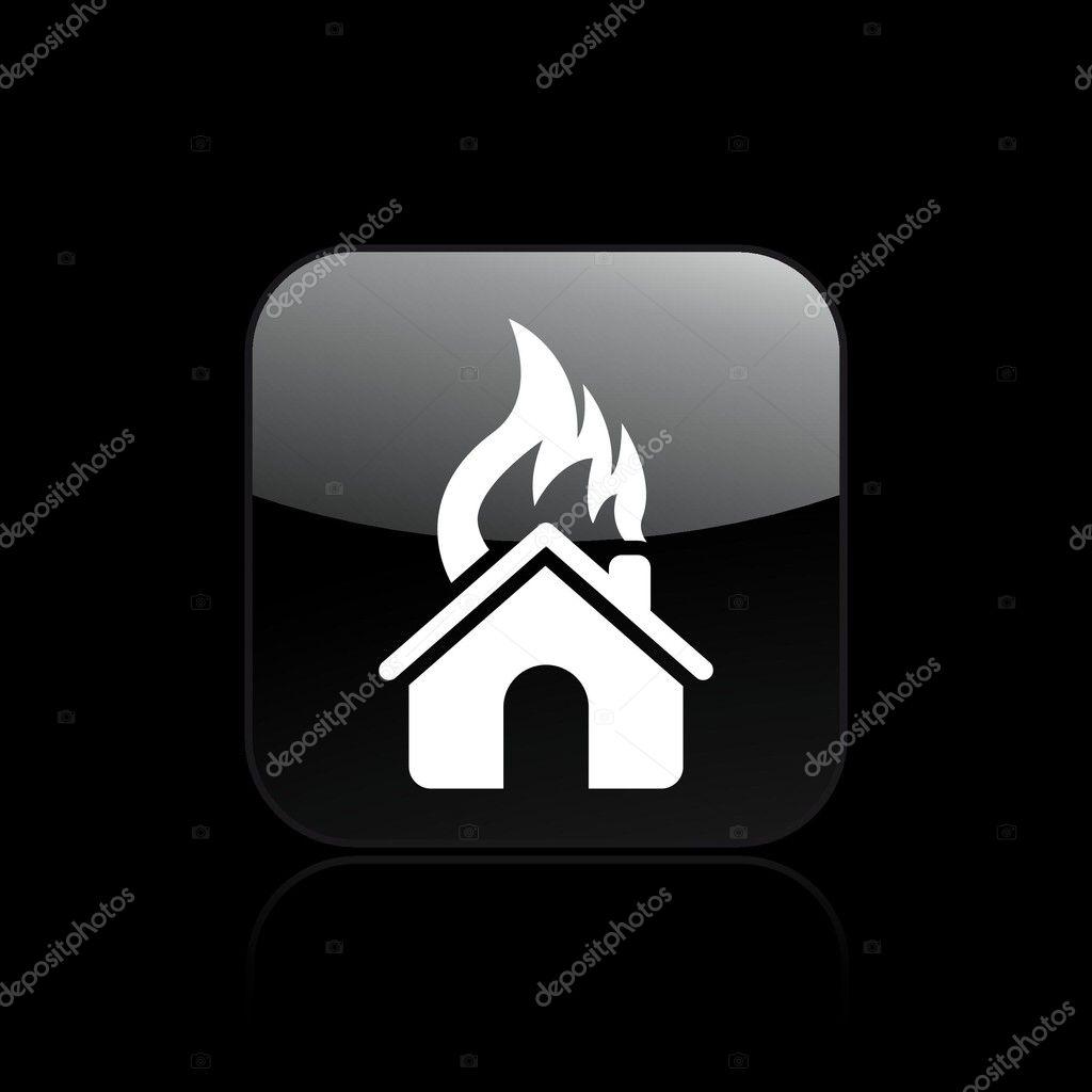 Illustrazione vettoriale di casa bruciando il concetto for Aprire i piani casa artigiano concetto