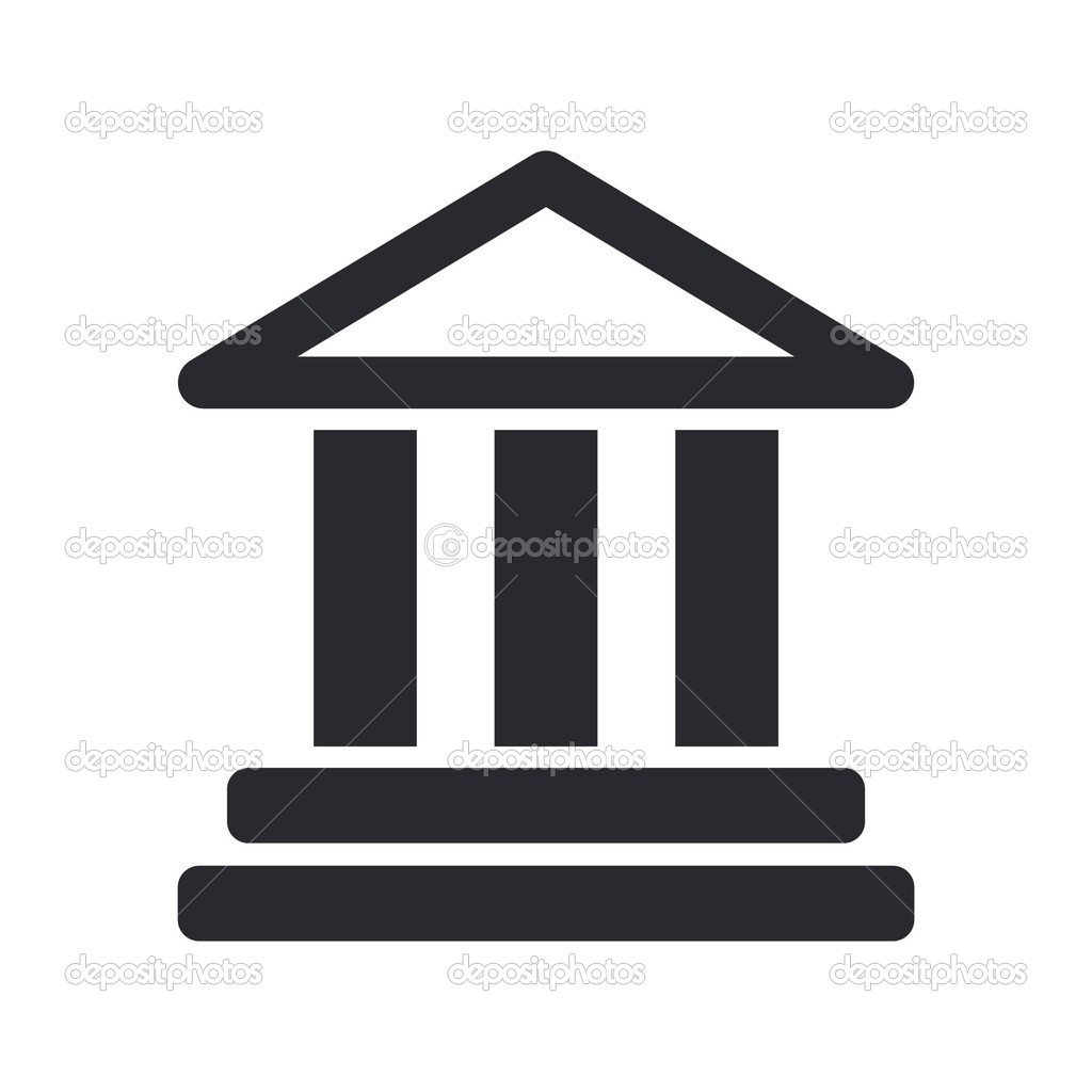 Vector illustration of isolated temple icon