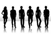 Fotografia illustrazione vettoriale di silhouette moda