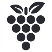 Photo Vector illustration of isolated grape icon