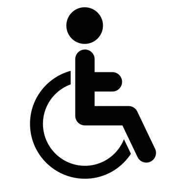Vector illustration of isolated handicap icon