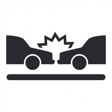 Vector illustration of isolated car crash icon