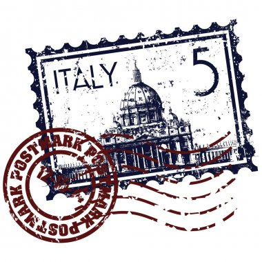 Vector illustration of isolated Italy stamp icon