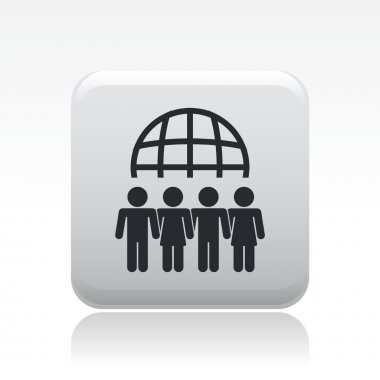 Vector illustration of isolated meeting icon
