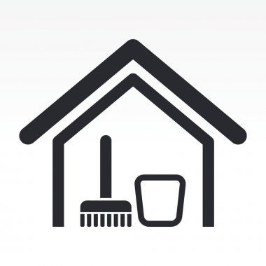 Vector illustration of isolated clean house icon