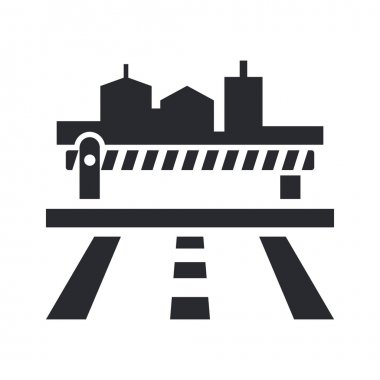 Vector illustration of single barrier icon