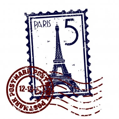 Vector illustration of single Paris icon