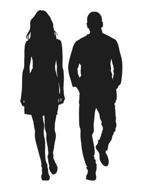 Vector illustration of fashion silhouette